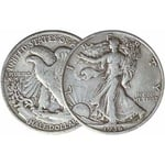 Half Dollar Walking Liberty 90% Silver 1 Coin Avg. Circ.