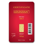 1/2 Gram Happy Valentine's Day Gold Bar Shipping