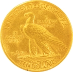 1912 $10 Gold Indian Head Eagle Coin - Click Image to Close
