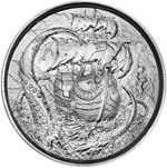 2 oz Silver The Kraken Ultra High Relief Silver Round