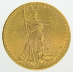 1927 $20 Gold Double Eagle Saint Gaudens Coin