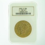 1902 S $20 NGC MS-61 Gold Double Eagle Liberty Coin