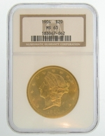 1904 $20 NGC MS63 Gold Double Eagle Liberty Coin