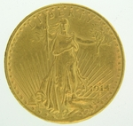 1914 S $20 Gold Double Eagle Saint Gaudens Coin