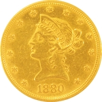 1880 $10 Gold Eagle Liberty Coin
