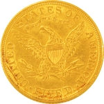 $5 Gold Eagle Liberty Coin 1849-1907 Random Year - Click Image to Close