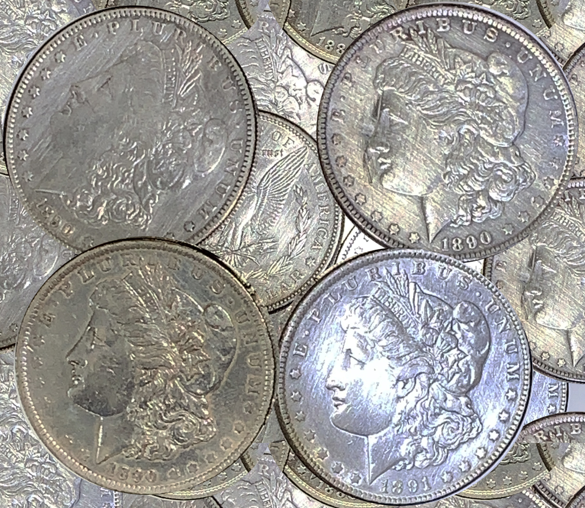 CLEANED - 1878-1904 Morgan Silver $1 Dollar - Random Year