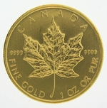 Random Year 1 oz Canadian Gold Maple Leaf Coin