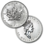 1 Ounce Platinum Canadian Maple Leaf Coin Random Year