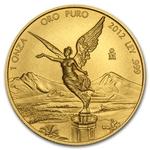 2012 1 oz Gold Mexican Libertad Brilliant Uncirculated