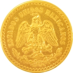 50 Pesos Gold Mexican Coin 1.2057 Troy Ounces - Click Image to Close