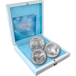 PAMP Suisse 3 Coin Silver Set GLORIA The Story of Nativity