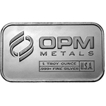 1 oz Silver Bar From OPM 999 1 Troy Ounce Fine Silver