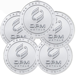 Lot of 5 - 1 oz OPM Silver Round .999 Fine Silver