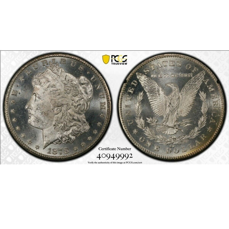 1878-CC $1 Silver Morgan Dollar in GSA Hoard Holder PCGS MS-63