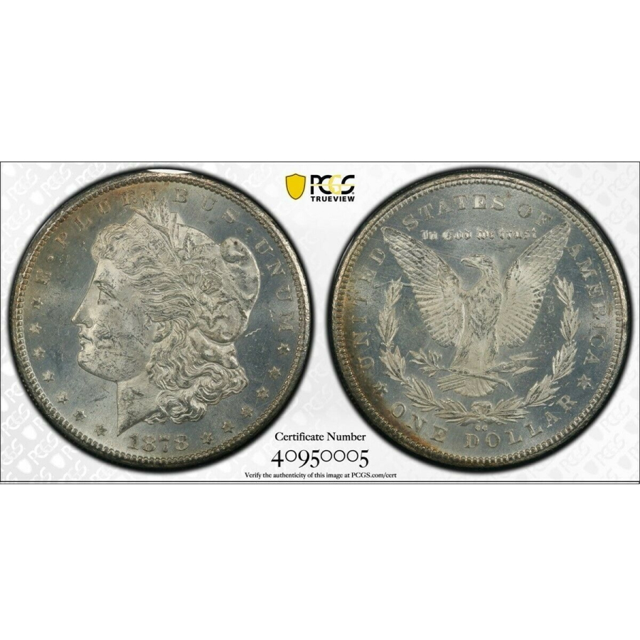 1878-CC $1 Silver Morgan Dollar in GSA Hoard Holder PCGS MS-62