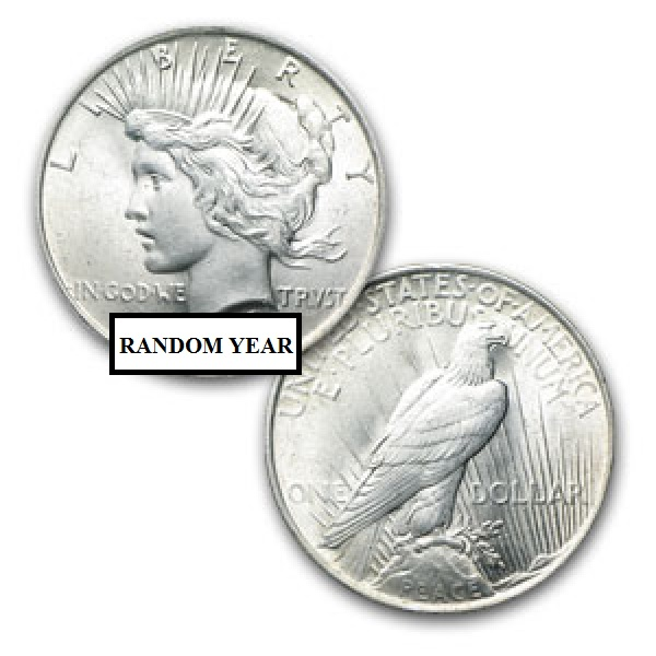 Silver Peace Dollar 1922-1935 VG-XF Condition