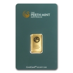 5 Gram Perth Mint Gold Bar .9999 Fine Gold With Assay Cert