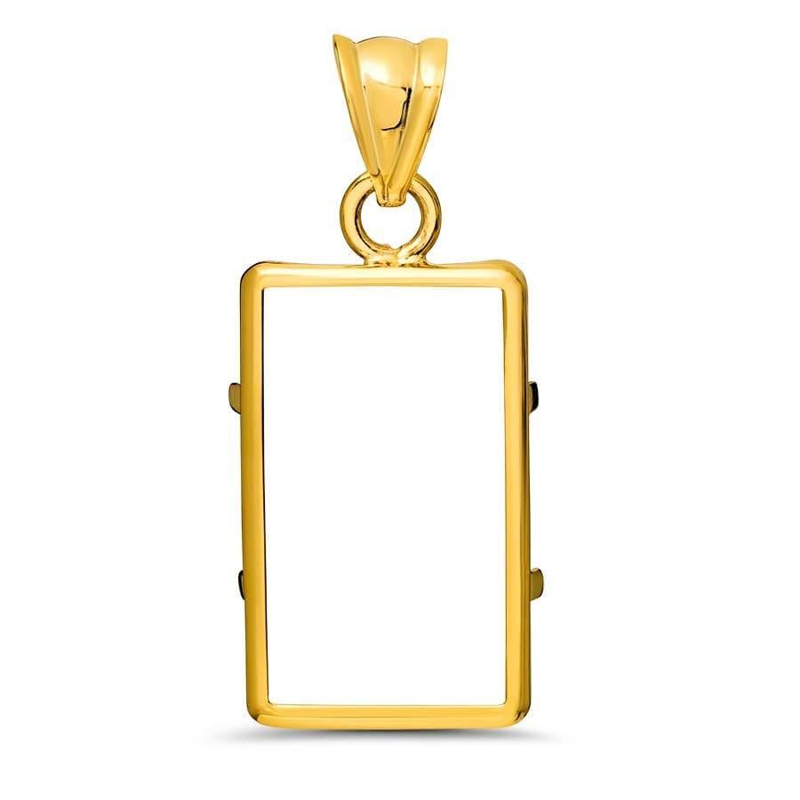 14k Gold G Plain Bezel Fits Pamp