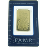 1 oz Pamp Suisse Gold Bar .9999 Fine Gold With Assay Cert PS
