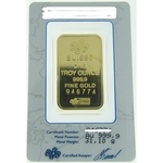 1 oz Pamp Suisse Gold Bar .9999 Fine Gold With Assay Cert PS - Click Image to Close