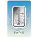 1 oz PAMP Suisse 999 Fine Silver Bar - Romanesque Cross