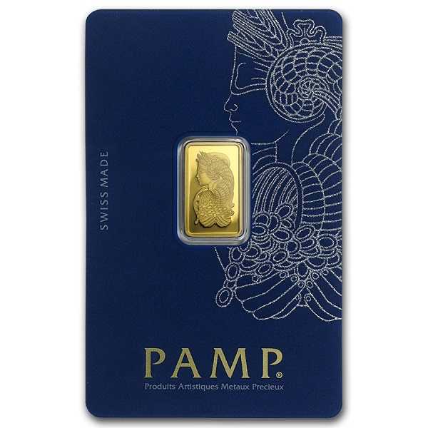 2.5 gram Gold Bar PAMP Suisse Lady Fortuna Veriscan In Assay - Click Image to Close