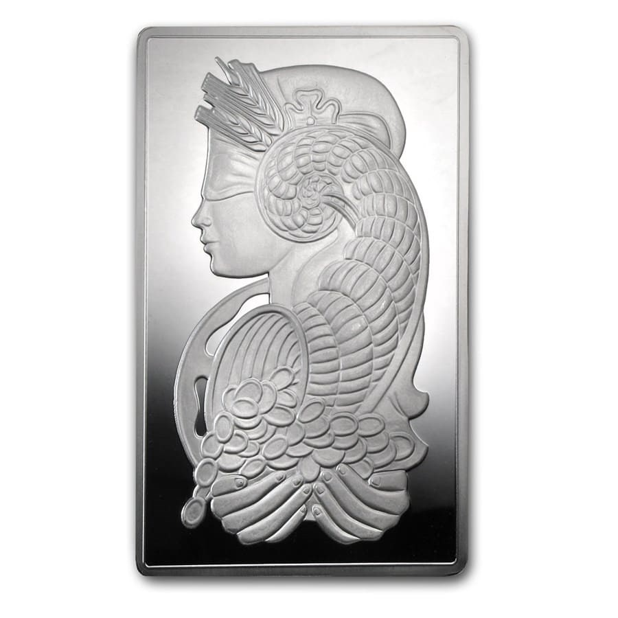 5 oz Silver Bar - PAMP Suisse Fortuna - In Capsule w/Assay