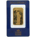 1 oz Pamp Suisse Gold Bar .9999 Fine Gold With Assay Cert SL