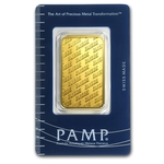 1 oz Pamp Suisse Gold Bar .9999 Fine Gold With Assay Cert ND