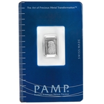 1 Gram Pamp Suisse Platinum Bar 999 Fine With Assay