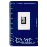 5 Gram Pamp Suisse Platinum Bar 999 Fine With Assay