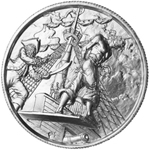 2 oz Silver The Captain Ultra High Relief Silver Round