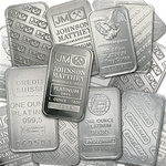 1 oz 999 Fine Platinum Bar Mint Varies