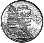 2 oz Silver Privateer Ultra High Relief Silver Round