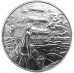 2 oz Silver Siren the Privateer Ultra High Relief Silver Round
