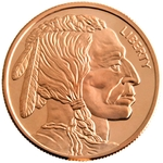 1 AVDP oz Buffalo Copper Round