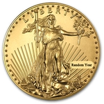 Random Year 1/10th oz Gold American Eagle Coin