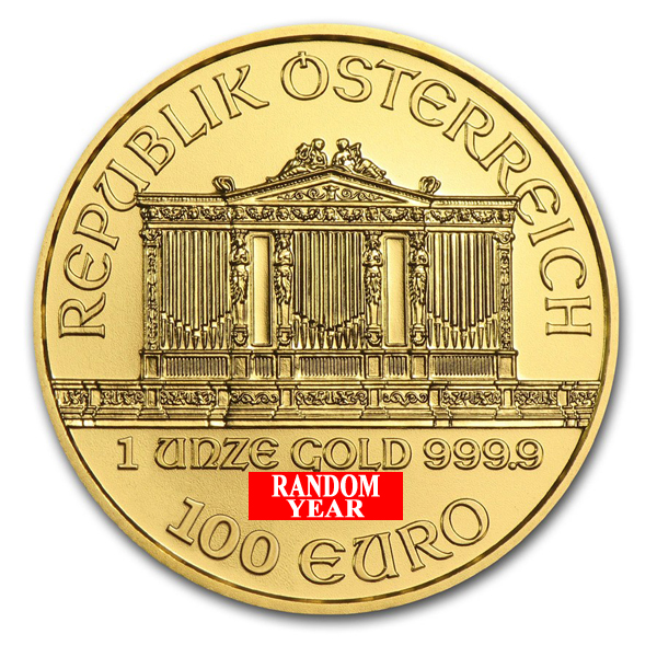 Random Year - 1 oz Austrian Philharmonic Gold Coin
