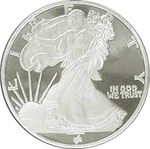 1/2 oz Silver Walking Liberty Round 999 Fine Silver