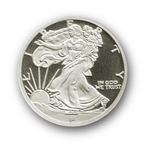 1/10 oz Silver Walking Liberty Round 999 Fine Silver