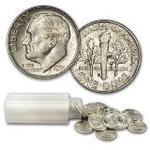 Roosevelt 90% Silver Dimes 100 Coins $10 Face Value Avg. Circ.