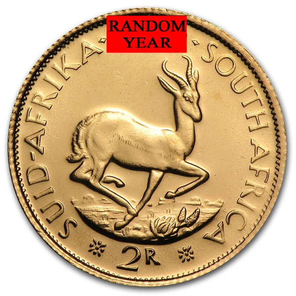 South Africa Gold 2 Rand Random Year