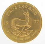 1977 1 oz Gold South African Krugerrand Coin