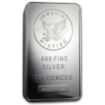 100 oz Sunshine Mint Silver Bullion Bar 999 Fine Silver