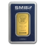1 oz Sunshine Mint Gold Bar .9999 Fine Gold