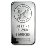 5 oz Silver Sunshine Mint Bar 999 Fine Silver
