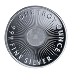 1 oz Silver Sunshine Mint Round 999 1 Troy Ounce Fine Silver - Click Image to Close