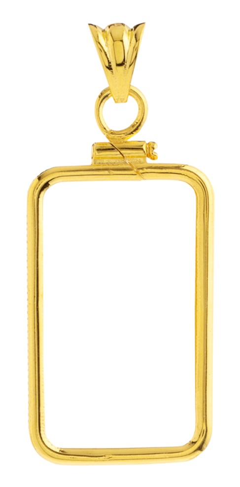 14K Gold Screw Top Plain Bezel-Fits Pamp Suisse 10 Gr Bar