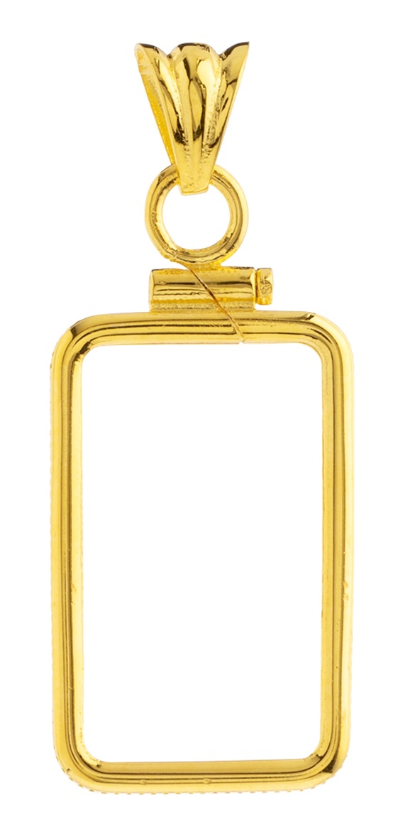 14K Gold Screw Top Plain Bezel - Fits Pamp Suisse 5 Gram Bar